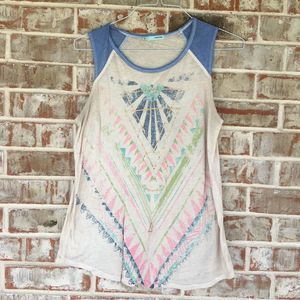 Maurices Geometric Tribal Multicolor Top